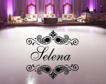 Huge Damask Theme Dance Floor Decal Wedding Day Fancy