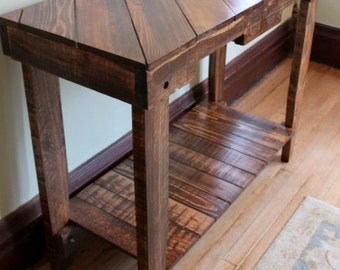 Wood Pallet Table, Sofa Table, Console, Pallet Furniture, Reclaimed Wood,  Rustic
