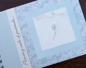 Gratitude Journal | Thankful Journal | Daily Blessings Book | Planting Seeds of Gratitude | White Roses on Blue