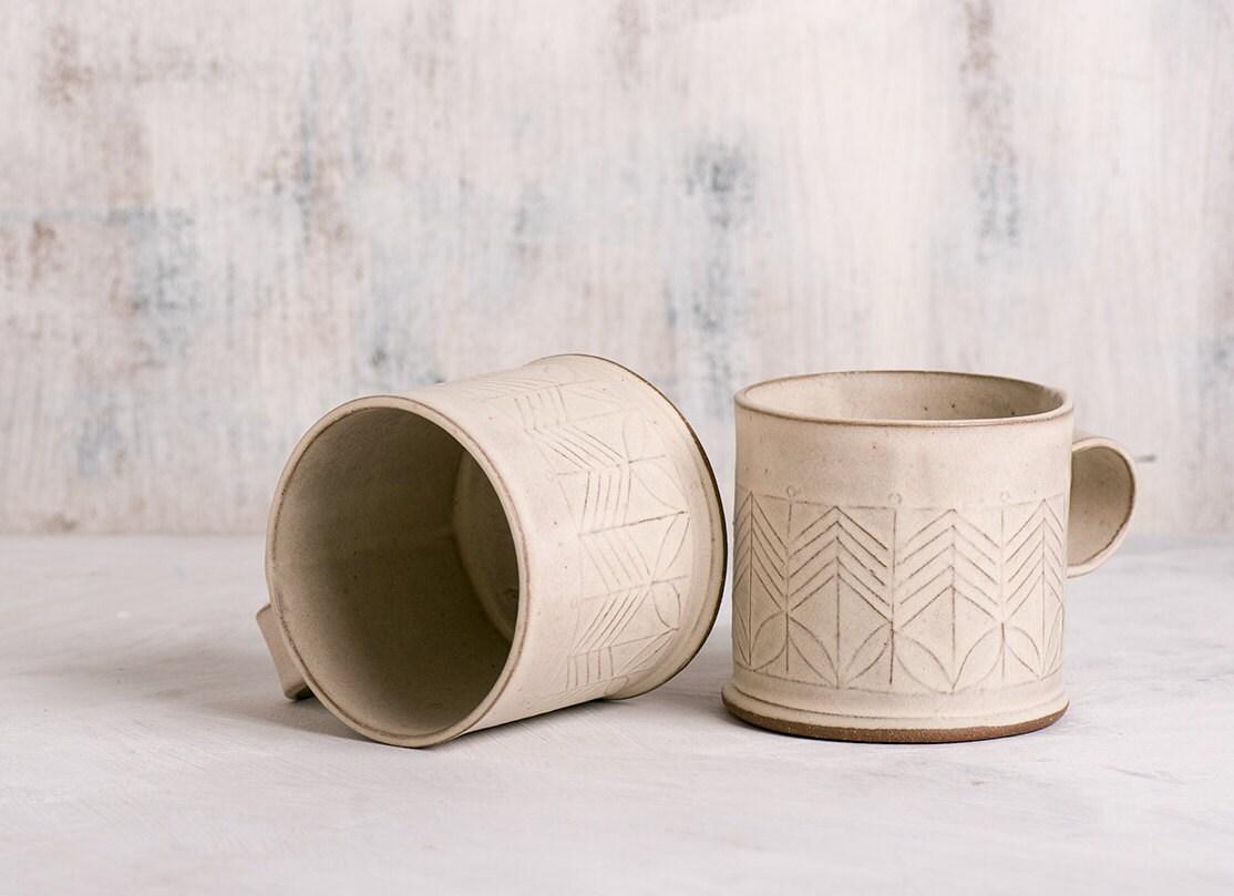 Ceramic Mug White Coffee Cup Modern Tea Cup White Ceramic