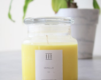 Vanilla soy candle | medium apothecary jar