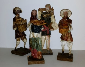 Mexican figures in Paper Mache Folk Art