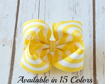 Yellow Hair Bow, Hair Bows, Hair Bows for Girls, Toddler Hair Bows, Baby Hair Bows, Hairbows, Large Hair Bow, Girls Hair Bows,  400