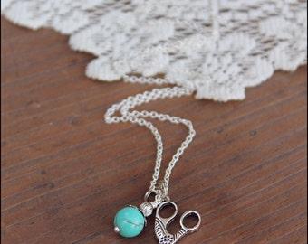 Scissor Necklace,  Silver Necklace,  Hairdresser Necklace, Hair Stylist Necklace, Scissor Jewelry
