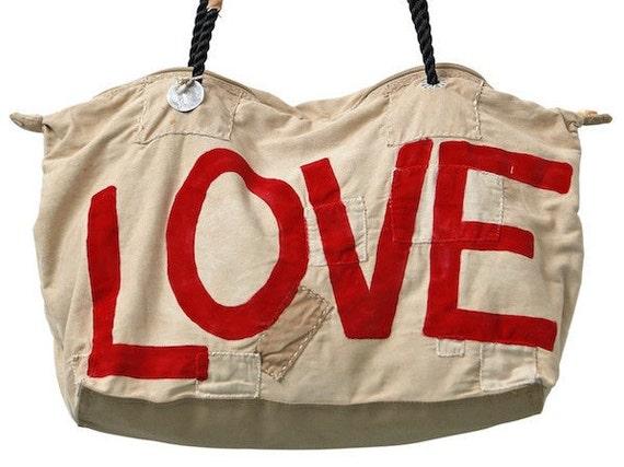 Ali Lamu Weekend Bag LOVE red