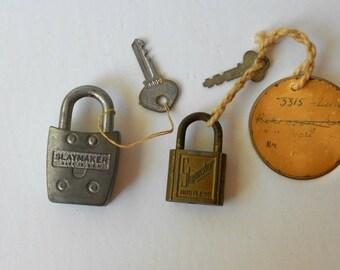 Vintage Slaymaker PadLocks with Keys TWO