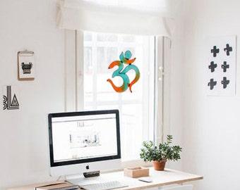 Yoga decoration Suncatcher OM  Meditation sacred geometry hanging boho bohemian art artwork