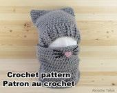 Cat Kit crochet pattern by Akroche Tatuk 4 sizes child to adult.
