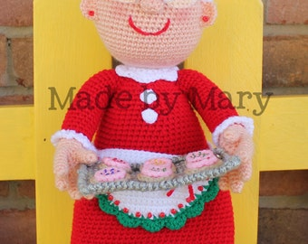 PDF Pattern: Mrs. Claus **Crochet Pattern Only, Not Actual Doll**