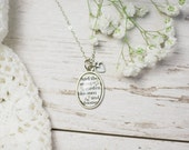The Secret Garden by Frances Hodgson Burnett Antiqued Bronze or Silver Book Page Literature Necklace