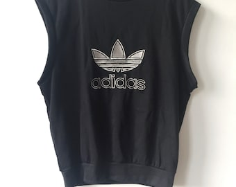 vintage adidas sweatshirt vest mens size XL