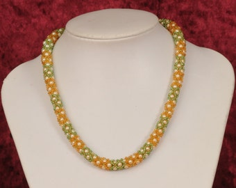 Pearl necklace,Beaded necklace,Green and gold beaded necklace,top valentine gifts,special valentine gift,valentines jewelry,valentine gift