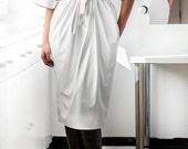 New SPRING 2016 White Leather Maxi dress, Midi dress, Fall Winter dress, Plus size dress, Party Dress, Oversized dress,   Casual dress