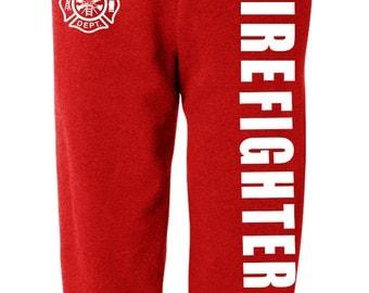 Firefighter sweatpants - fireman fire fighter sweats