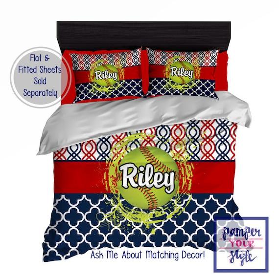 softball bedroom softball personalized bedding design my