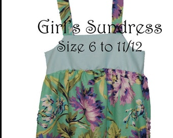 Girls Sundress PDF Pattern Tutorial 6 - 12 years