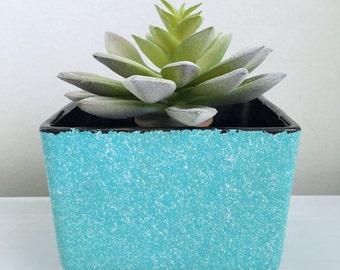 Turquoise Shawnee planter