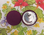 20% OFF SALE Fabric Covered Button Earring / Wholesale Jewelry / Purple / Stud Earring / Bridesmaid Gifts / Made in USA / Plain Earrings