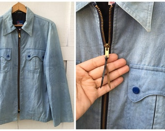70's Denim Shirt Jacket by The Peters Bunch - Men's Large / 40