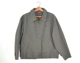 Vintage Jacket Timberland Jacket Green Jacket Men's Jacket Medium Weight Jacket Men's Green Jacket Green Timberland Jacket