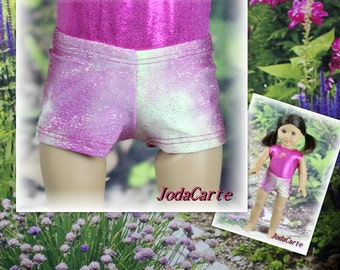 Pink Rain Shorts for American Girl Doll