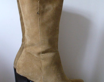 Vintage Made in Italy Banana Republic Suede Boots Size 7 US