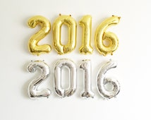 FREE SHIPPING 2016 Graduation air filled number balloons Class of 2016 metallic gold silver blue pink 16 inch graduation open house
