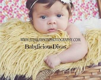 SALE Mini White Baby Headbands, Newborn Headband, Newborn Baby Headband, Infant Headband, Baby Headband, Headbands Baby, White Baby Headband