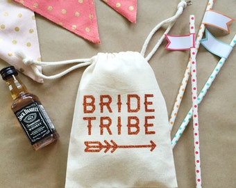 Bride tribe - bachelorette party favor bag - bridesmaid gift -bachelorette weekend hangover bag -hangover kit -bridesmaid gift bag -tote bag