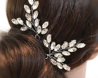 Wedding Hair Pins, Bridal Hair Pins Rhinestone Headpiece, wedding hair accessories bridal headpiece, hair pins silver, rhinestone hair pins