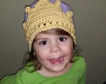 PDF Princess Crown Crochet Hat - Seamless Option