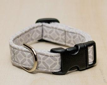 Dog Collar, Grey Shapes Dog Collar