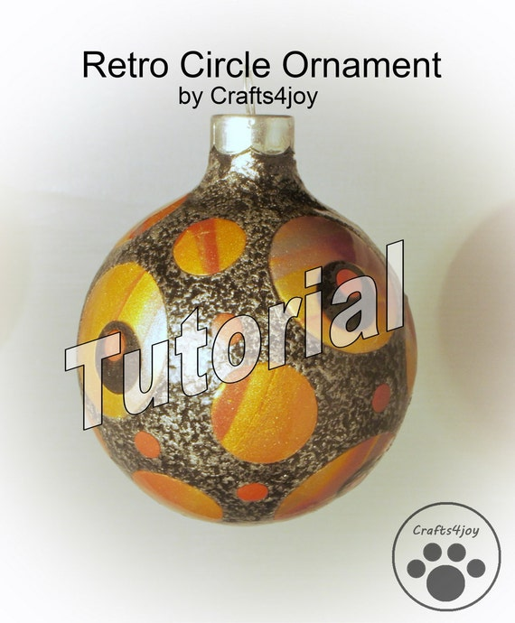 Polymer Clay Tutorial for Retro Circle Ornament