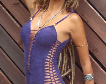 One piece  Swimsuit , Swimwear , Beachwear , Bathing suit , Boho chic ,  Purple brown swimsuit