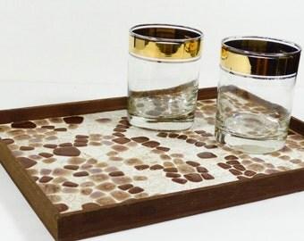 Mosaic Tile Tray - Midcentury Tray - Mosaic Tray - 50s Bar Tray