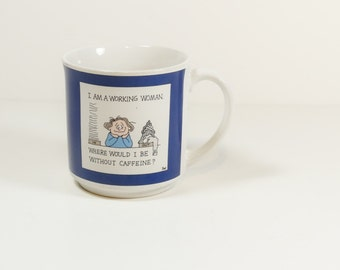 Vintage Working Woman Coffee Mug from Recycled Paper Products