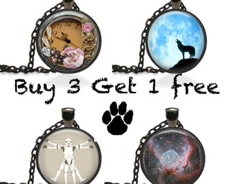 Necklace Sale Buy 3 Pendants Get One Free Jewelry Charms [B7]
