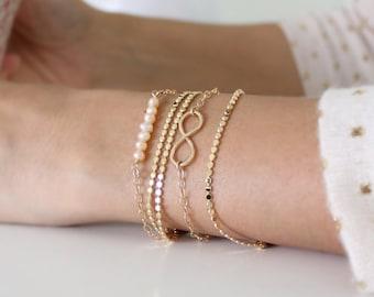 Minimalist gold bracelet - Everyday dainty gold bracelet