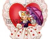 Vintage Valentine Card Download Art Graphic Image printable valentine