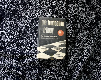 The Foundation Trilogy By Isaac Asimov. 1951 Science Fiction Collection Hardcover Book. Foundation, Foundation And Empire, Second Foundation
