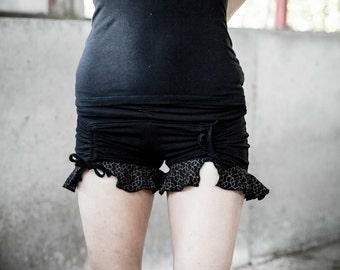 Sale-Wave Booty shorts - Yoga shorts - Organic cotton shorts - Mini shorts - Wave dancer shorts