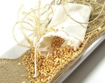 Rosemary scented Sachet, Scented Linen Sachet Bag, Room Fragrance, Home Accent, Drawer Sachet, Gifts for Her - 3x4 Muslin Bag