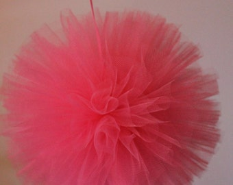 "16"" Hand Sewn and Woven Tulle Pom, Any Colors, Tulle Balls, Wedding Decor, Shower Decor, Birthday Decor, Girls Nursery Decoration"