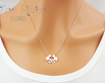 Personalized cat necklace in rose gold, silver or gold. Rose gold cat necklace pendant, Personalized rose gold furbaby necklace