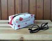 Cure Diabetes Designed Fabric Zipper Box Pouch