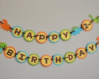 Dinosaur Banner, Dino Party, Dinosaur Birthday Banner