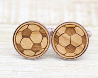 Soccer Balls Copper Cufflinks