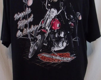 Vintage 90s 1992 Harley Davidson Tshirt Size XL.