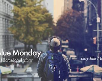 Blue Monday - Photoshop Action INSTANT DOWNLOAD