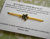 Butterfly Wish Bracelet- Choose your color